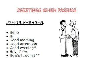 YON ENGLISH COM.: GREETING, PARTING EXPRESSIONS :