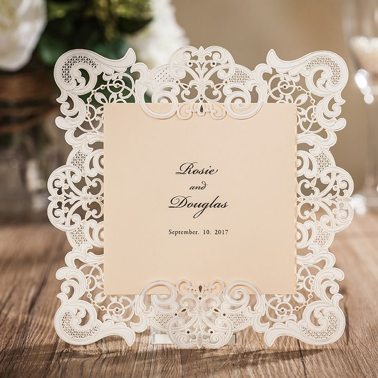 9 best Wedding invitations Lace Floral invites
