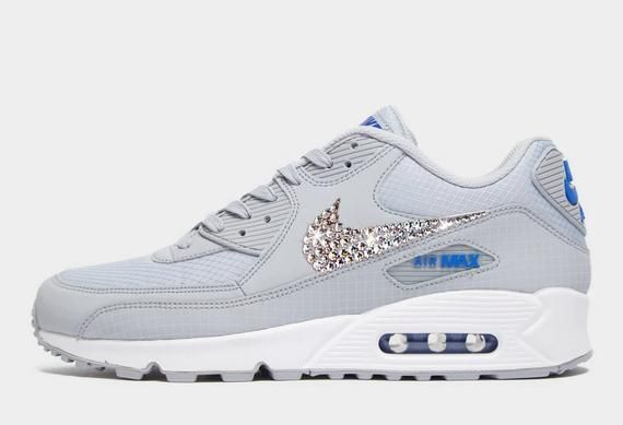 various colors cheap get online Swarovski Women's Nike Air Max 90 University Sneakers Blinged Out ...