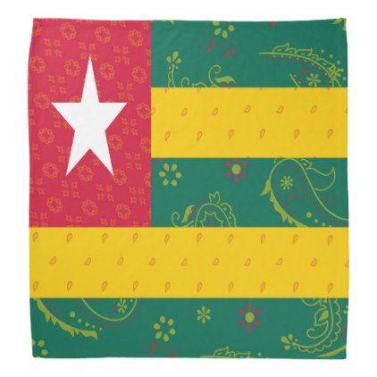 Togo Flag Bandana - trendy gifts cool gift ideas customize
