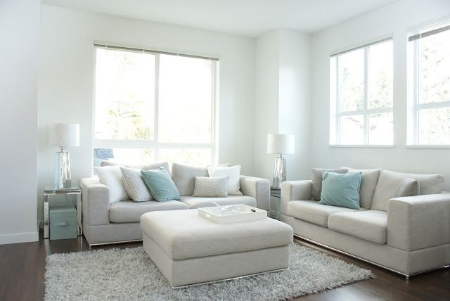 soothing color inspiration for the living room.