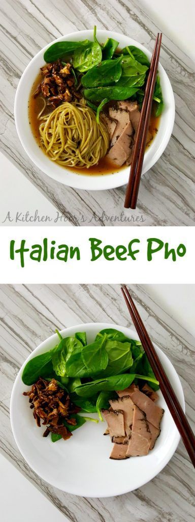 A mash up of pho style soup with Italian flavored beef, this Italian Beef Pho is simple, delicious, and perfect for cold nights like this one.