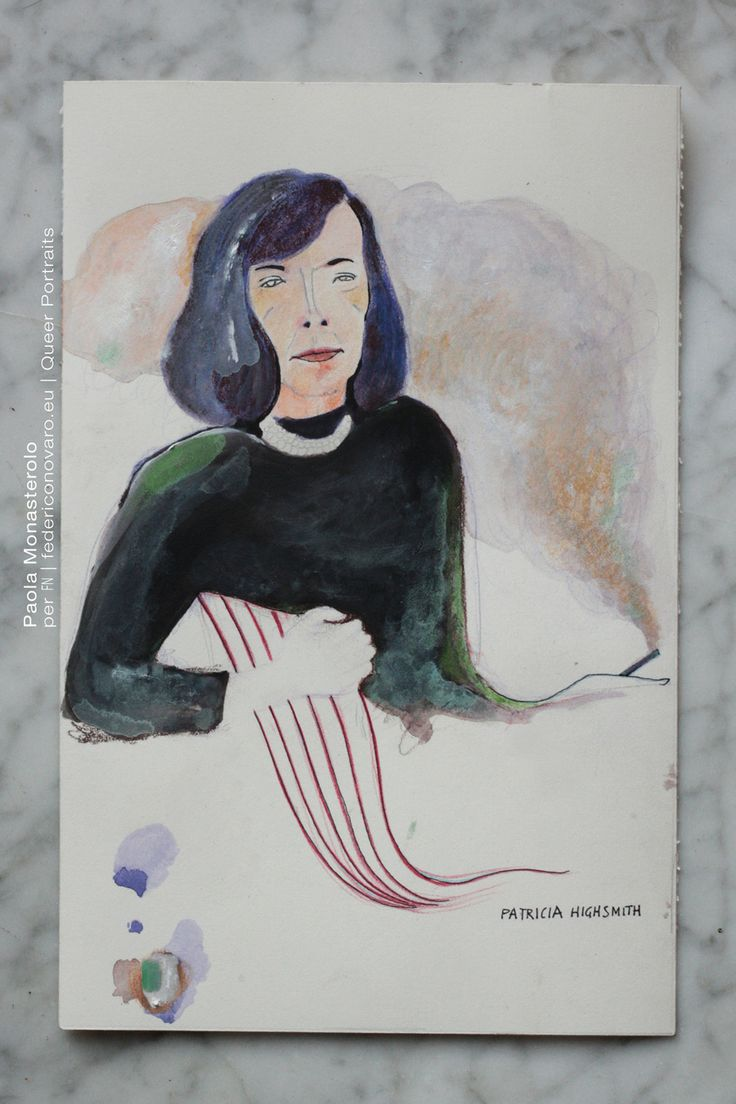 PATRICIA HIGHSMITH, di Paola Monasterolo. QUEER PORTRAITS, 8. - feat. Federico Boccaccini www.federiconovaro.eu