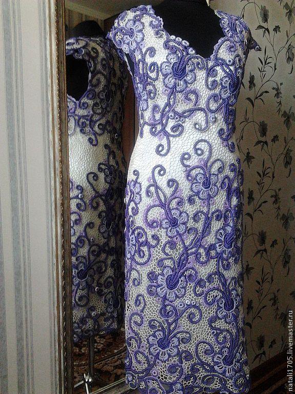 """Купить Платье """"Кружевная симфония 2"""" - платье, платье вязаное, платье вечернее, Платье нарядное"""