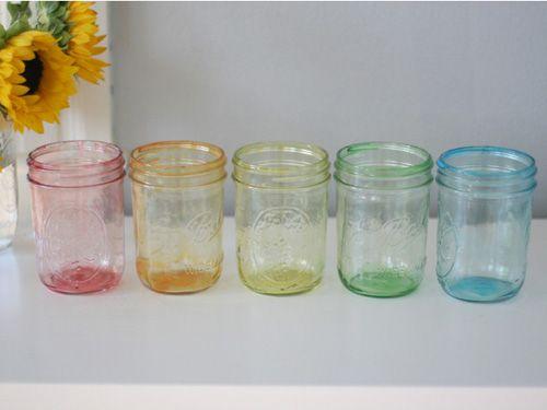 frascos de color albañil