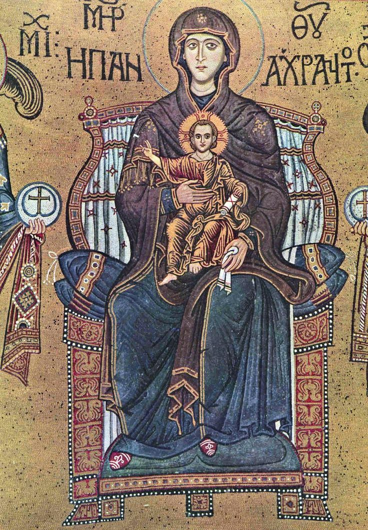 01f Monreale Mother of God Enthroned