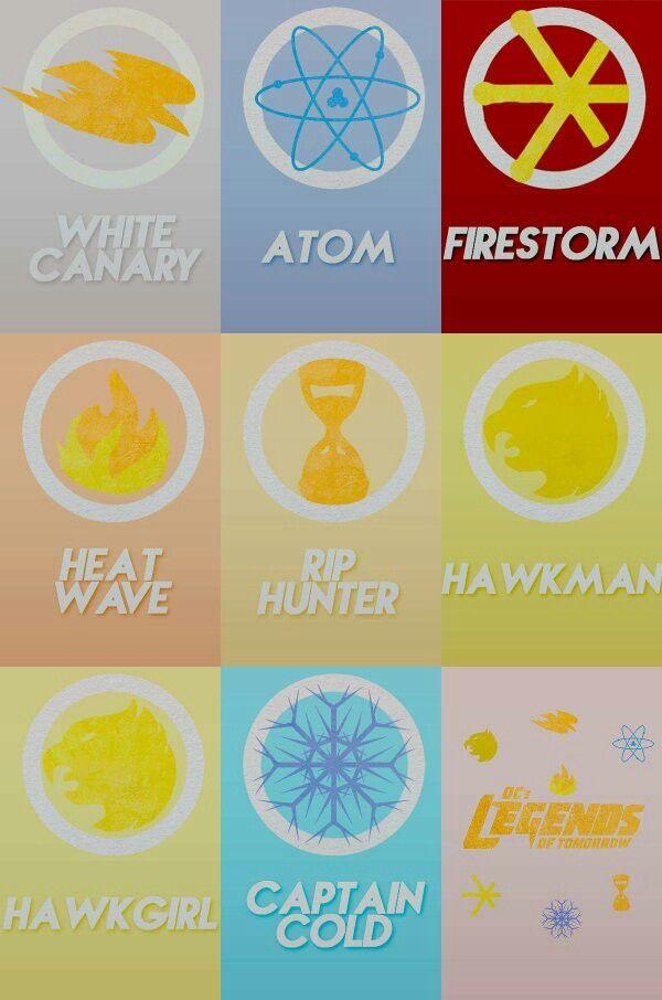 Legends of Flarrow - Superheroes logos - Legends of Tomorrow - DC Comics