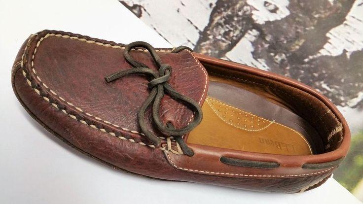 "Women's L.L. BEAN Leather driving Shoes 9 M  LL Bean Shoes Moccasins ""RARE"" #LLBean #BoatShoes #driving"