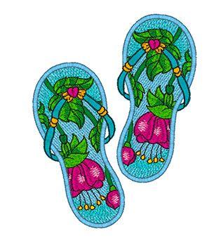 Mylar Flip Flops 2 — Purely Gates Embroidery