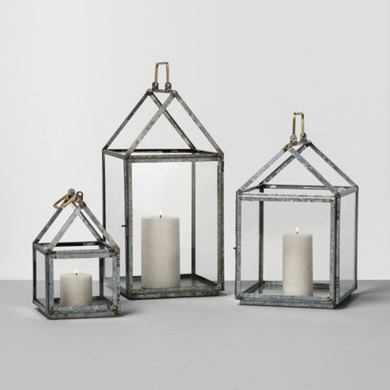 Accessorize a shelf or windowsill with one lantern or get the whole set for a glowing display.