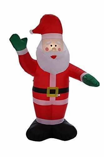 Homegear 8 ft Christmas Inflatable Santa Claus (Certified - christmas blow up decorations