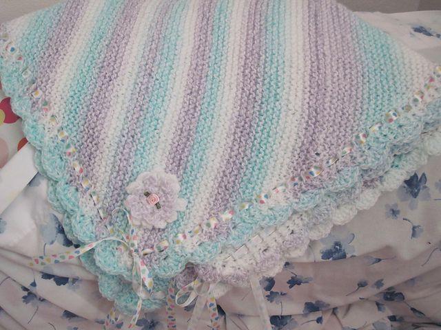 Одеяло для новорожденных спицами