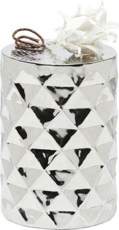 Beistelltisch aus Aluminium in Nickel – Ein stylisher Hingucker für überall!