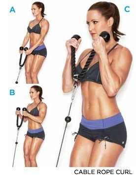 This bicep exercise has really grown on me because it hits them in a completely different way. Find a cable machine and rope and give it a try! #weightloss