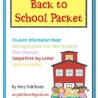 This packet has great ways to gather information about your new students. Student information sheets, goal sheets, sample first day letter, and ide...