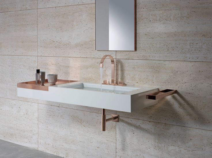 MEM - Bathroom Range by Dornbracht. A new colour (Cyprum) Rose Gold.