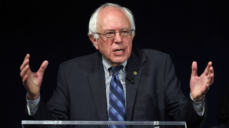 In his speech Thursday, Sanders also went off-script to criticize Donald Trump's racism toward Mexicans