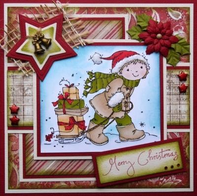 Stamp Christmas kids - Nellie Snellen