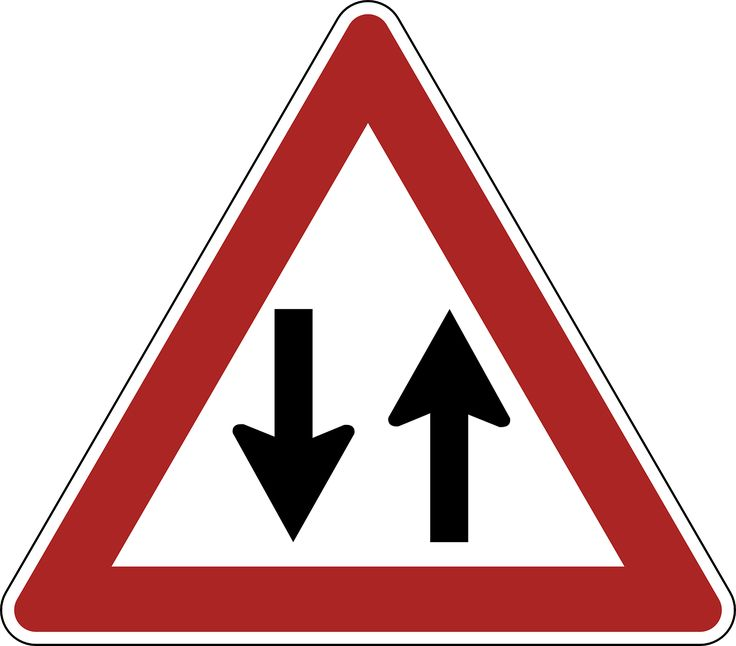 Two Way Traffic Danger Warning transparent image