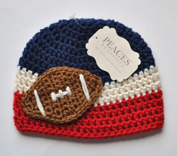 Baby Football Hats - New England Patriots Football Beanie (Baby Hat Baby Hats Baby Gifts  Newborn Hat Preemie Baby Hat Newborn Hats) on Etsy, $28.00