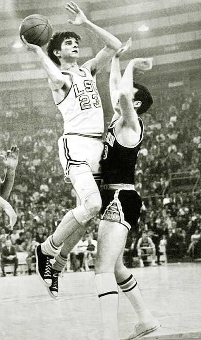 Pistol Pete Maravich the NCAA all time scoring leader who played before there was a 3 point line.
