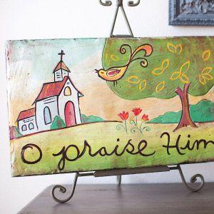 O Praise Him Sculpted Art Panel  $48.00