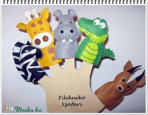 Filc ujjbáb csomag -  Szafari, Baba-mama-gyerek, Játék, Baba-mama kellék, Báb, Meska