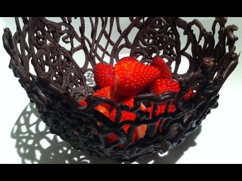 How to make a CHOCOLATE BOWL using ice How To Cook That Ann Reardon
