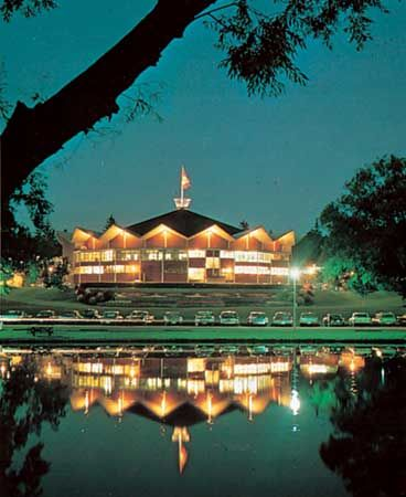 Festival Theatre, Stratford Ontario.  Looking forward to the 2012 visit.  Love this place.