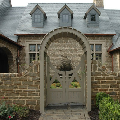 stonework, tones, and gate