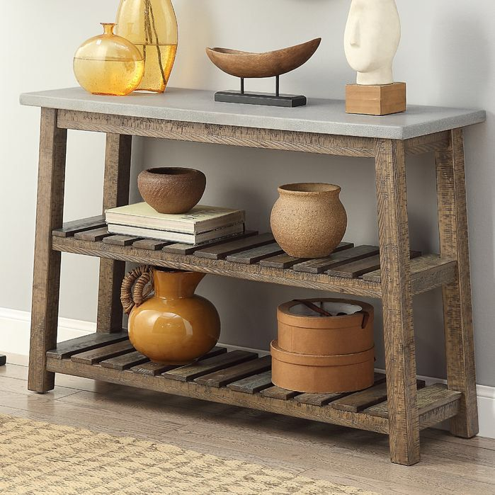 Features:  -Fir and concrete blend.  -Casual rustic.  -Color: Grey.  Top Finish…