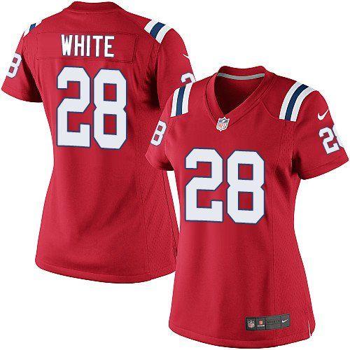 $24.99 Nike Elite James White Red Women's Jersey - New England Patriots #28 NFL Alternate