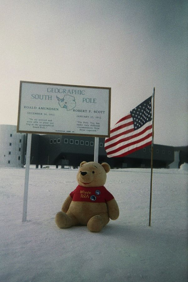 The adventure of Winnie the Pooh at the South Pole