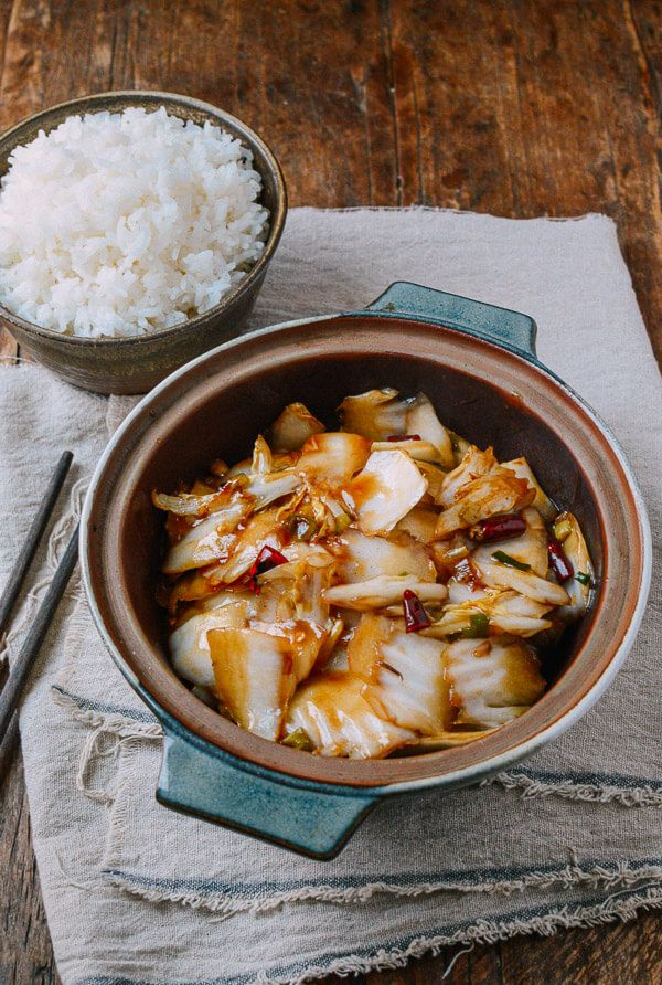 This cabbage stir-fry recipe has just the right amount of spice and tang. It comes together on the stove in 5 minutes, and it's perfect with steamed rice. @thewoksoflife1