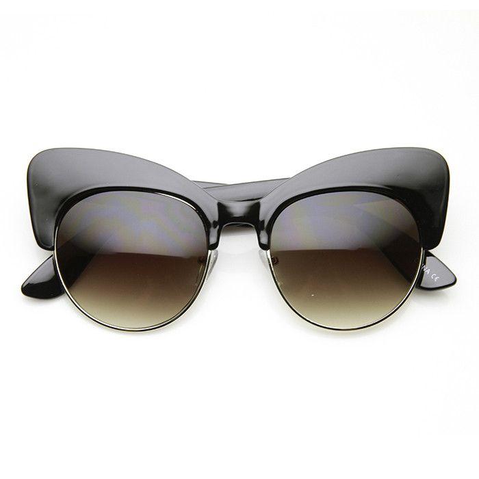 White Half Frame Glasses : 17+ best images about Specs/sunglasses frames on Pinterest ...
