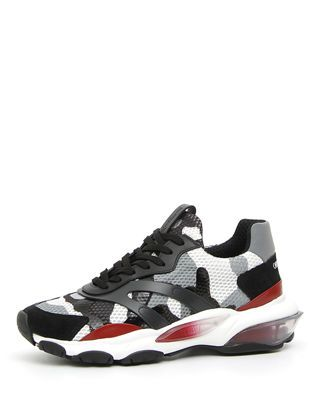 a0409508ea2 Valentino Men's Bounce Camo Leather Sneakers in 2019 | Products ...