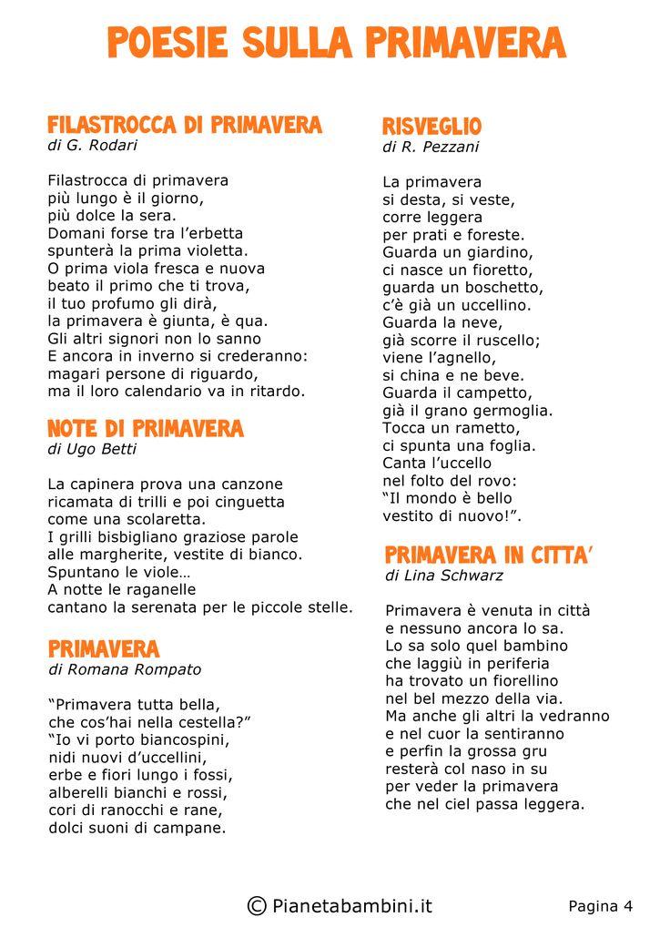 brevi poesie scuola primaria - Cerca con Google