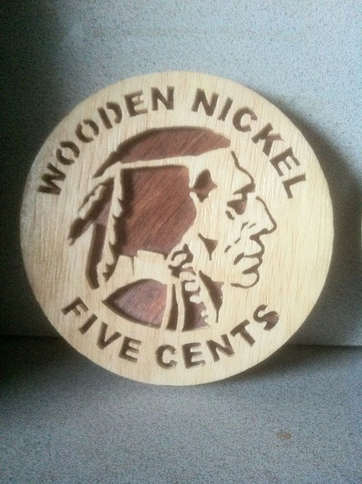 Wooden Nickle, I made two of these for Christmas 2013.  Handmade by PopeyeKris' Woodworks