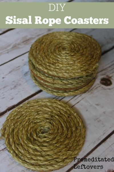 DIY Sisal Rope Coasters - Use this easy tutorial to make Sisal Rope Coasters to add a natural and functional touch to your home decor.