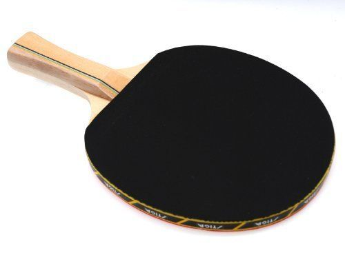 """Stiga Reflex Table Tennis Racket by Stiga. $14.87. Stiga Reflex Table Tennis RacketMade of competition inverted rubber surface, Stiga Reflex Table Tennis Racket is designed to deliver high performance for all levels of active play. This regulation inverted """"""""pips-in"""""""" design gives players the desired combination of spin and speed. Featuring 1.6 mm sponge and 5-ply blade, the ping pong paddle provides superior ball control. Plus, its concave handle offers better gr..."""