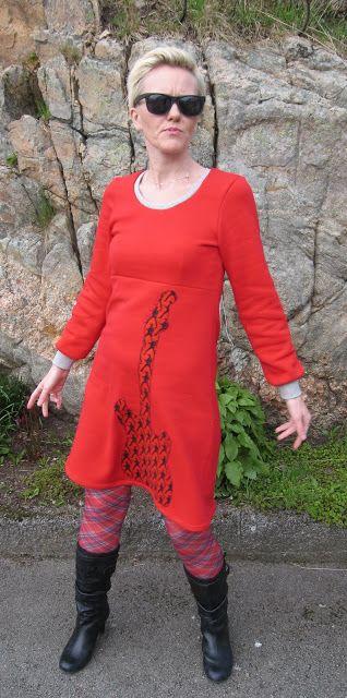 EllenSand: Tutorial oppdatert: Stretch-kjole med innsnitt!