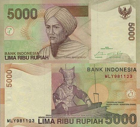 Indonesia 5000 Rupiah 2016