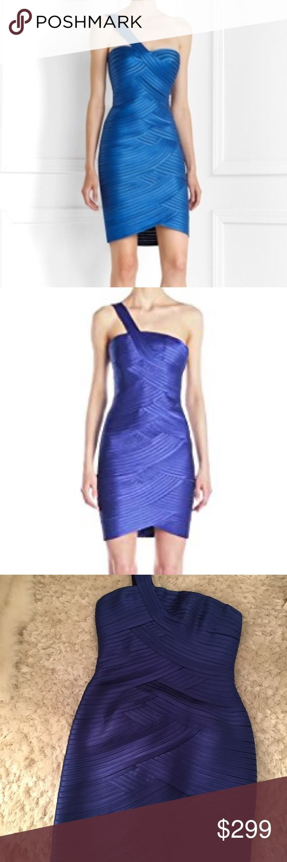 BCBG MAXAZRIA ONE SHOULDER DRESS BLUE COCKTAIL Bandage style one shoulder short cocktail dress sapphire blue night out formal dress brand new with tags never worn excellent condition BCBGMaxAzria Dresses One Shoulder