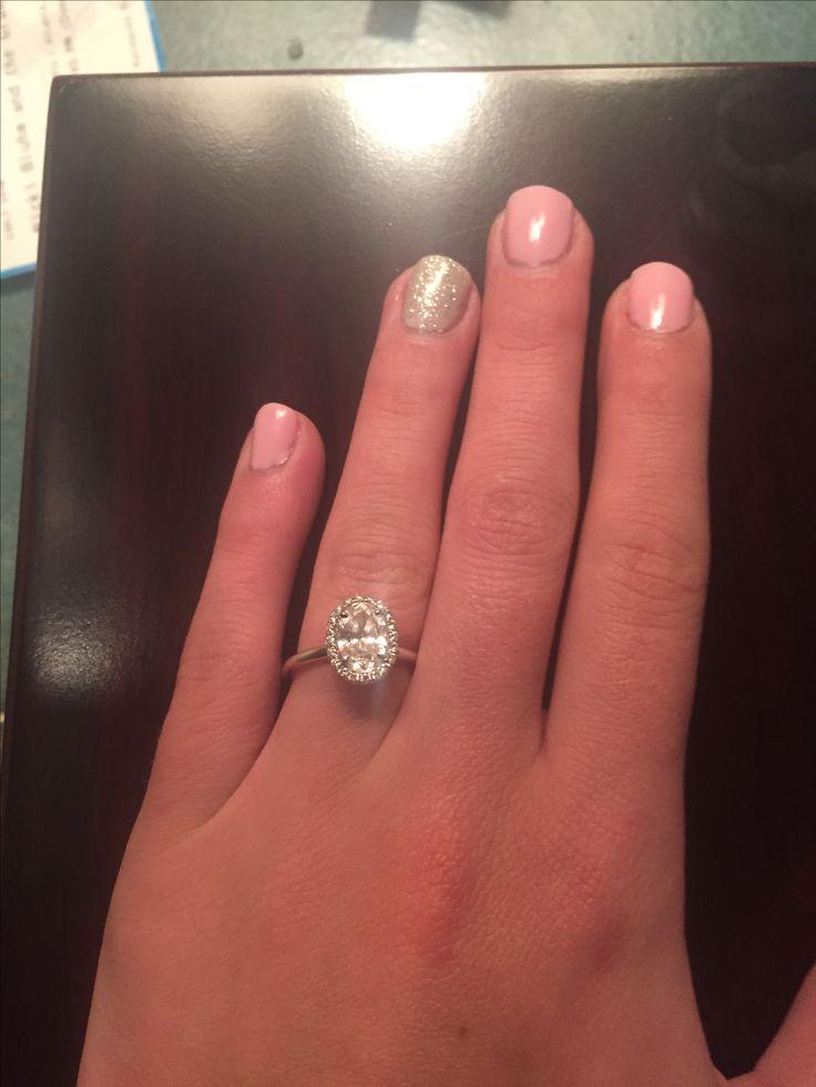 Beautiful Halo rings with PLAIN shanks Post uem here Weddingbee