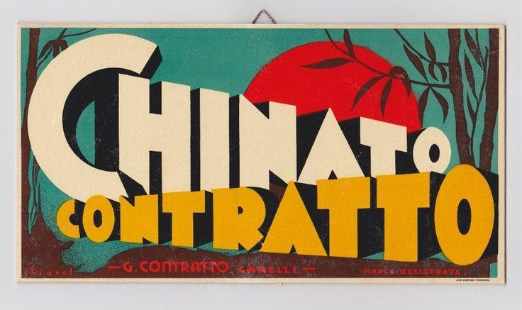 Pubblicità d'epoca cartoncino CONTRATTO CHINATO - CHIAREL - (Canelli)-Originale | eBay