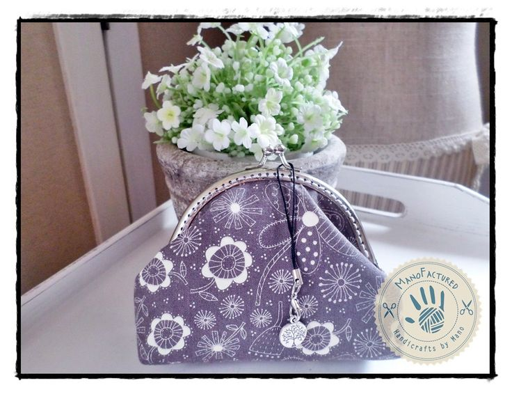 Spring purse, 13 cm by ManoFactured on Etsy