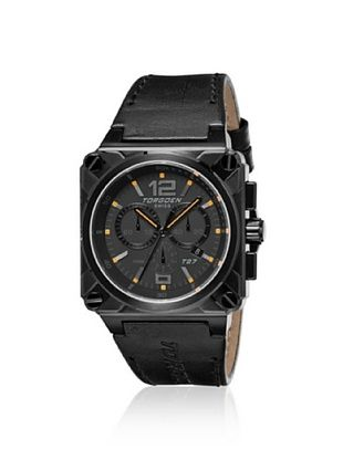 Torgoen Men's T27107 Black Stainless Steel Watch