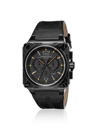 Torgoen Men's T27107 Black Stainless Steel Watch