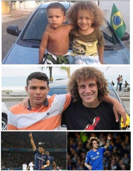Two best friends, went their separate ways but never lost touch. David Luiz and Thiago Silva, two famous soccer players.