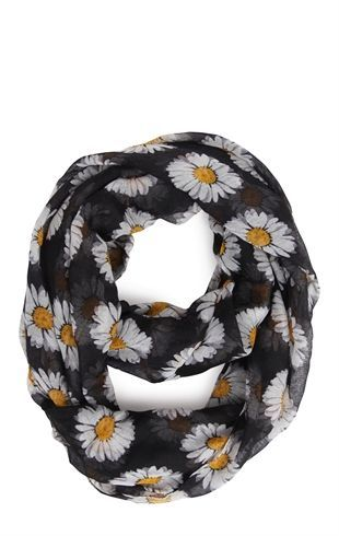 Deb Shops Woven #Scarf with #Daisy Print